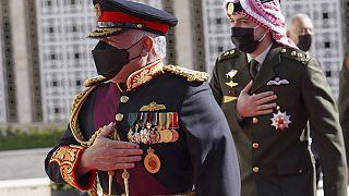 ملك الأردن عبد الله الثاني يصل مقر البرلمان لإلقاء خطاب. 2020/12/10
