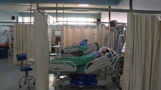 Imagen de la sala de cuidados intensivos de un hospital chileno