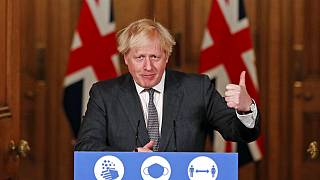 Boris Johnson in London zum Brexit-Handelsdeal