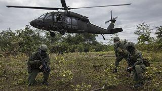 Στιγμιότυπο από την επιχείρηση καταστροφής φυτειών κοκαΐνης στην Κολομβία