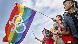Photo d'archive : manifestation pour le mariage homosexuel à Taiwan, le 10/12/2026