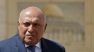 وزير الخارجية المصري سامح شكري في رام الله في الضفة الغربية. 2020/07/20