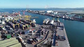Traffic has been calm at Dublin Port on New Year's Day