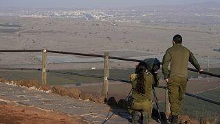 جنود إسرائيليون في هضبة الجولان المحتل.
