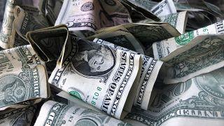 أوراق من العملى الاميركية الدولار. نيويورك ـ 2019/04/03