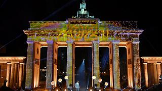 Feuerwekt am Brandenburger Tor in Berlin