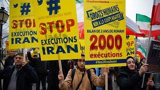 Fransa'da İran'daki idam cezalarına karşı eylem / 2016