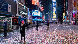 Times Square, en Nueva York, casi vacía en Nochevieja