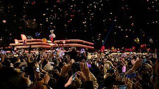 جشن سال نو در ووهان چین، یک سال پس از شیوع کرونا
