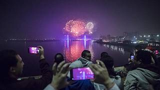 New Year in Africa: Spectacular fireworks in Egypt, music concert in Zimbabwe