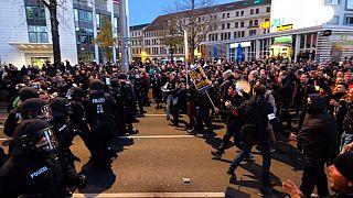 Corona-Proteste in Stuttgart im November 2020