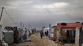 مخيم للاجئين السوريين- لبنان