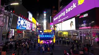 New York: Times Square ball drop and countdown to New Year