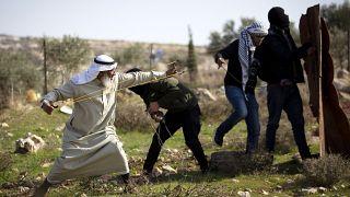 Палестинцы протестуют против строительства еврейских поселений