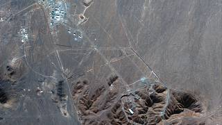 File photo: This Nov. 4, 2020, satellite photo by Maxar Technologies shows Iran's Fordo nuclear site.