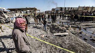 تفجير وقع في مدينة الباب في نوفمبر 2020- أرشيف