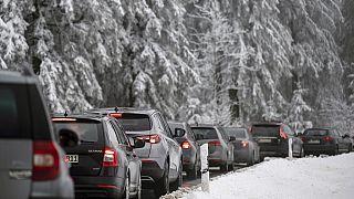 Staus auf dem Weg nach Winterberg