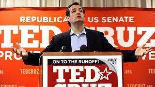 """Ted Cruz, a republikánus """"puccsisták"""" vezérszónoka 2012-ben Houstonban kampányol"""