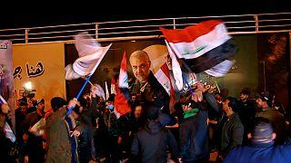 مراسم سالگرد قتل قاسم سلیمانی و ابومهدی مهندس در عراق