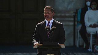 Pedro Pierluisi, durante su jura de cargo como gobernador de Puerto Rico