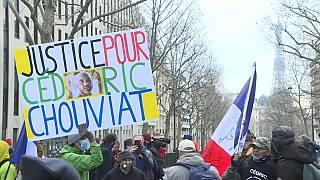 Paris protest in support of family of Cédric Chouviat who died after police arrest