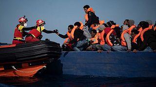 Rescate de migrantes del Open Arms el pasado 2 de enero