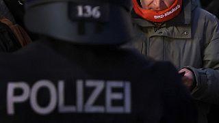 Querdenken Protest (in Leipzig) im November 2020
