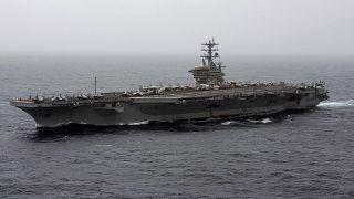 حاملة الطائرات الأميركية نميتز تعبر بحر العرب. 2020/09/07