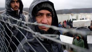 Migranten aus Afrika und Asien im Lager Lipa nahe der Stadt Bihac in Bosnien