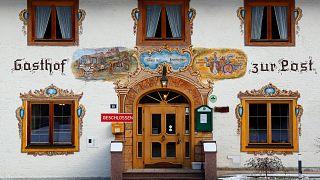 Bezárt fogadó az ausztriai Hinterrissben 2020. december 3-án