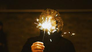 Sternchenfeuer an Silvester