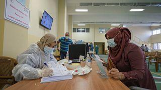 مركز اختبار كورونا- مدينة رام الله بالضفة الغربية