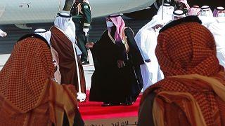 Mohammed bin Salman accoglie il qatarino Tamim bin Hamad Al Thani - aeroporto di Al-Ula