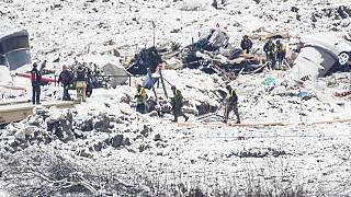 Rescue teams will continue to search through the rubble in the village of Ask.