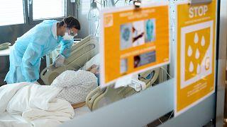 Ellátás egy Lausanne-i kórházban 2020. szeptember 17-én
