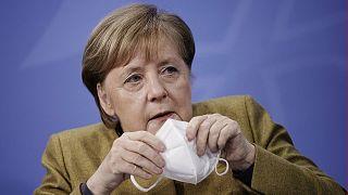 La chancelière allemande, Angela Merkel, le 5 janvier 2021 à Berlin