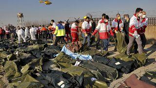 جسد قربانیان سرنگونی هواپیمای اوکراینی