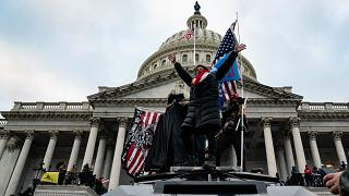 Supporters of US President Donald Trump outside the US Capitol in Washington, USA. January 6, 2021