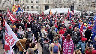 تجمع لأنصار الرئيس الأمريكي دونالد ترامب في ساحة الحرية بواشنطن.