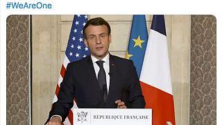 Captura de pantalla de la cuenta oficial de Emmanuel Macron