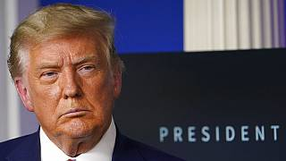 Donald Trump durante una rueda de prensa (archivo)