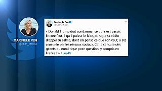 Marine Le Pen tenta di difendere Trump e attacca i colossi di Internet.
