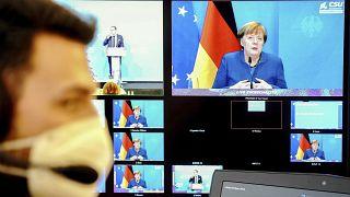 Videoschalte mit Kanzlerin Merkel