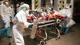 Archives : transfert d'un patient Covid-19 de Lyon à Strasbourg, le 12/11/2020.