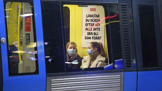 Mascherine sui mezzi pubblici in Svezia.