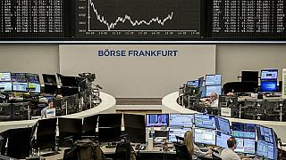 La borsa di Francoforte, 17 marzo 2020