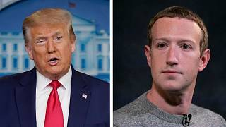 "Mark Zuckerberg said the risks of allowing the US President to continue to use the service are ""simply too great""."