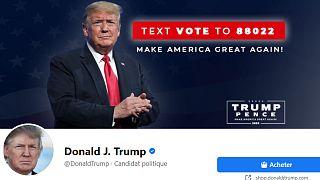 Capture d'écran de la page Facebook de Donald Trump