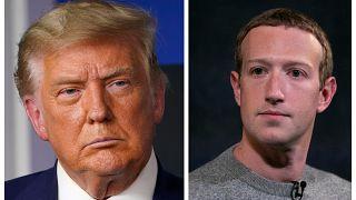Il presidente degli Stati Uniti Donald Trump e il fondatore di Facebook Mark Zuckerberg