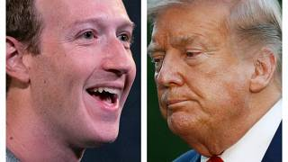 Марк Цукерберг и Дональд Трамп